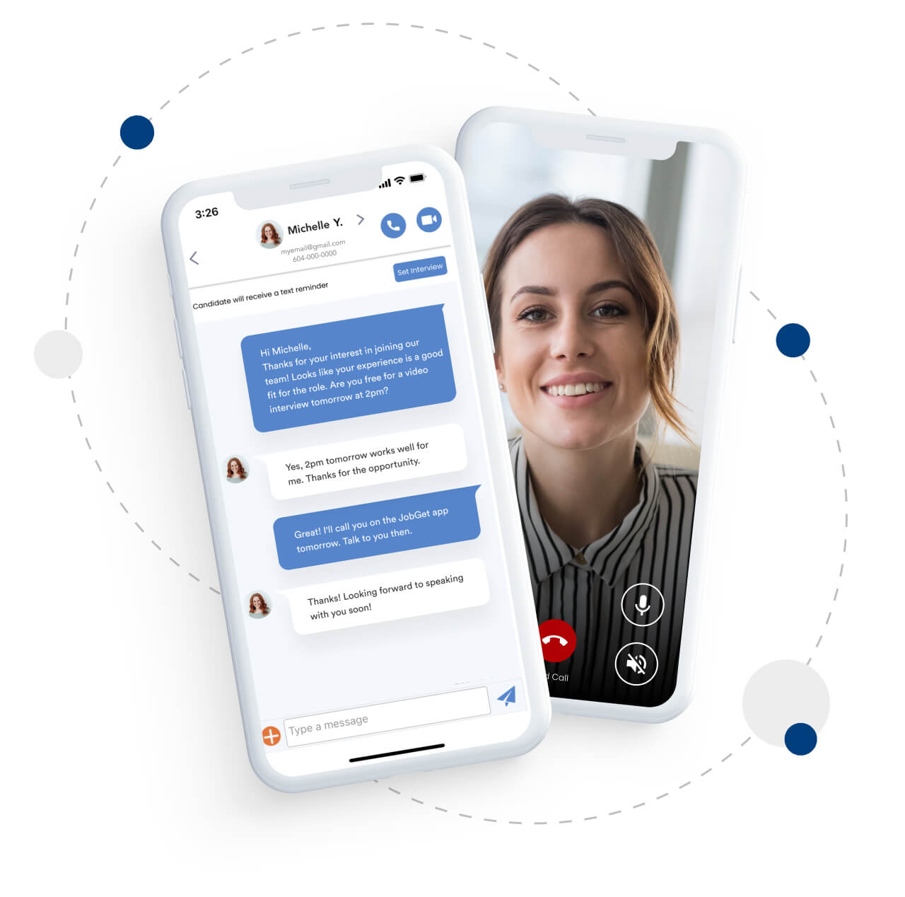 Connect, Chat, and Interview Instantly